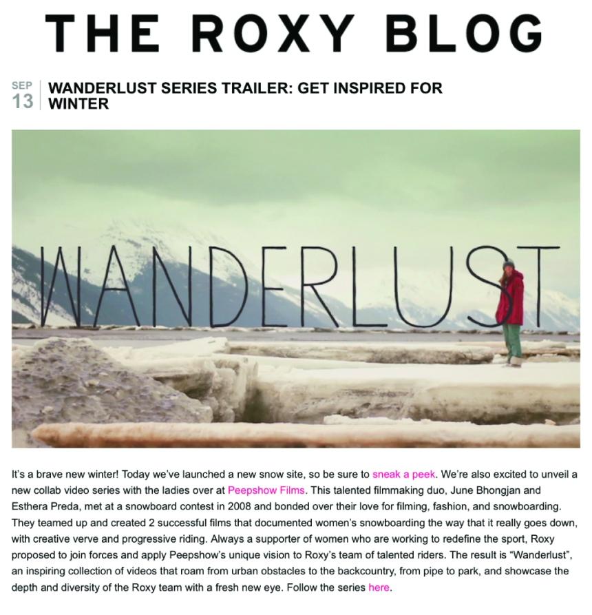 RoxyBlog